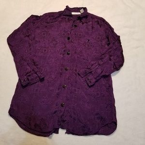 Vintage silky double button up tunic